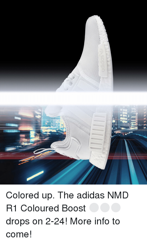 a9742180d92ba Colored Up the Adidas NMD R1 Coloured Boost ⚪ ⚪ ⚪ Drops on 2 ...