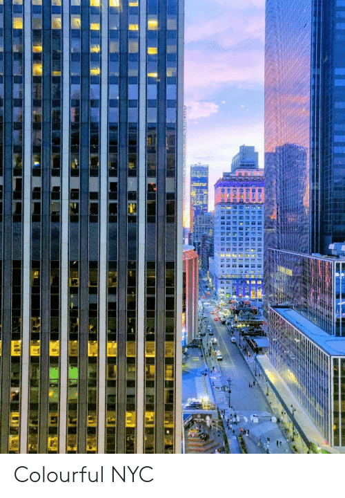 Nyc and Colourful: Colourful NYC