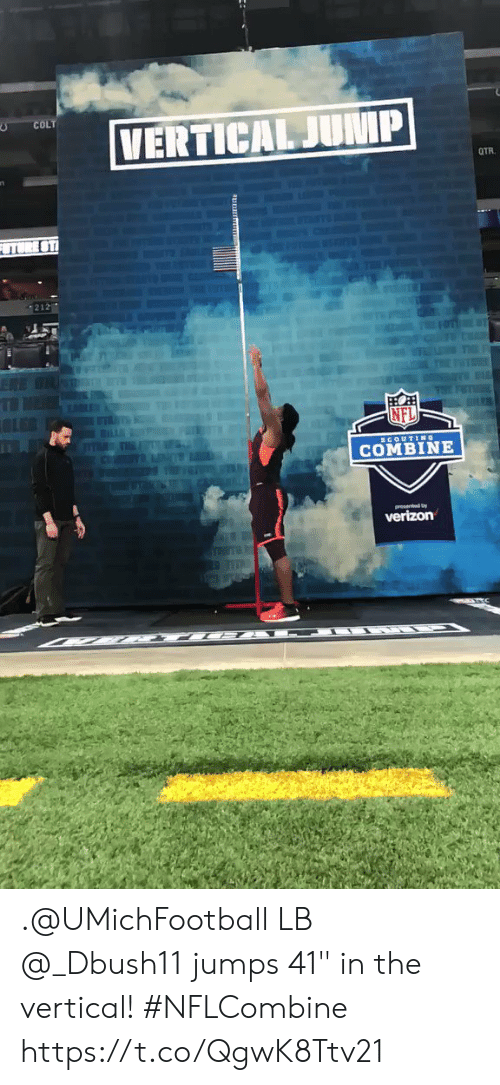 """Memes, Nfl, and 🤖: COLT  212  NFL  COMBINE .@UMichFootball LB @_Dbush11 jumps 41"""" in the vertical! #NFLCombine https://t.co/QgwK8Ttv21"""