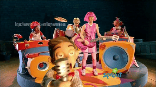 Funny Lazy Town Meme : Lazy town the mine song with stingy original and it s hour long