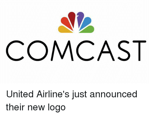 comcast united airline s just announced their new logo comcast