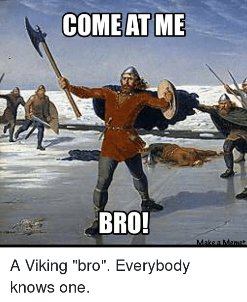 come at me bro make a meme a viking bro everybody knows one meme