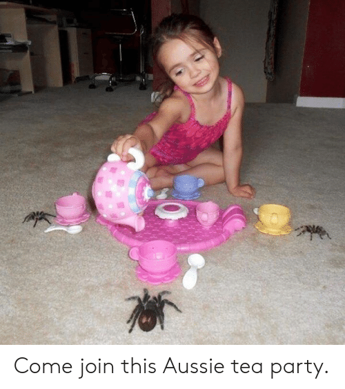 Dank, Party, and Aussie: Come join this Aussie tea party.
