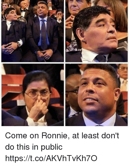 Memes, 🤖, and Public: Come on Ronnie, at least don't do this in public https://t.co/AKVhTvKh7O