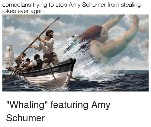 "Amy Schumer, Jokes, and Amy: comedians trying to stop Amy Schumer from stealing  jokes ever again ""Whaling"" featuring Amy Schumer"