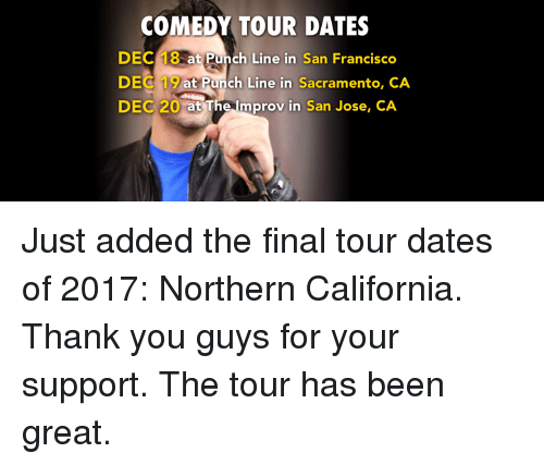 Comedy Tour Dates Dec 18 At Punch Line In San Francisco Dec 19 At