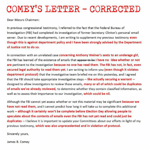 Comeys letter corrected dear messrs chairmen in previous facts fbi and girls comeys letter corrected dear messrs chairmen in previous spiritdancerdesigns Gallery