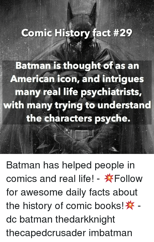 Comic History Fact #29 Batman Is Thought of as an American