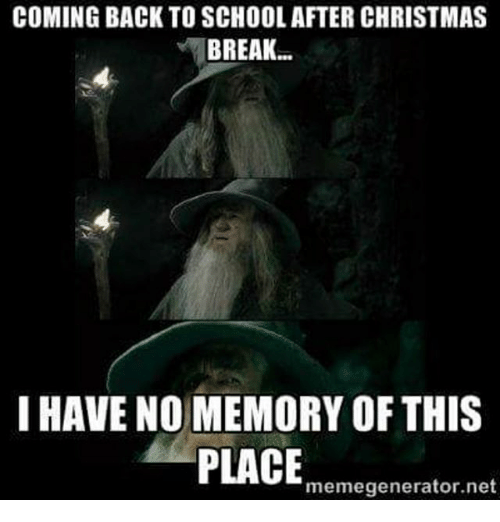 memes back to school and coming back to school after christmas break - When Does School Start Back After Christmas Break