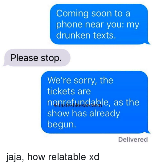 how to stop drunk texting