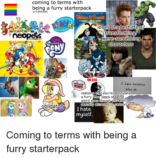 Coming to Terms With Being a Furry Starterpack Umakeupalt FROM THE