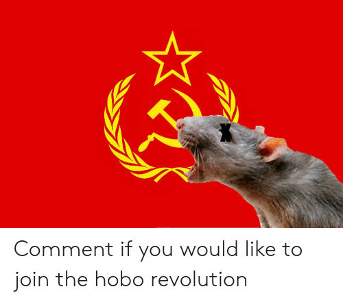 Reddit, Revolution, and Hobo: Comment if you would like to join the hobo revolution