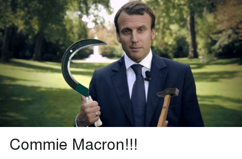 commie macron 19964586 macron and macron meme on me me