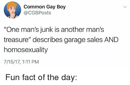 Common Gay Boy One Man's Junk Is Another Man's Treasure
