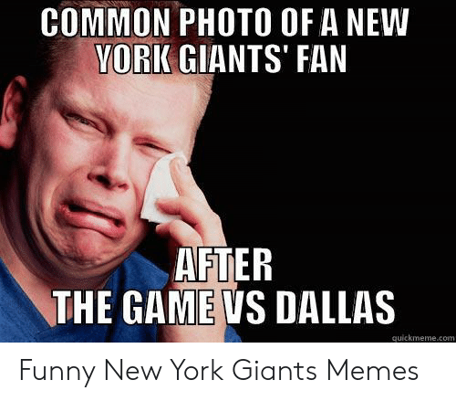 Common Photo Of A New Vork Giants Fan After The Game Vs