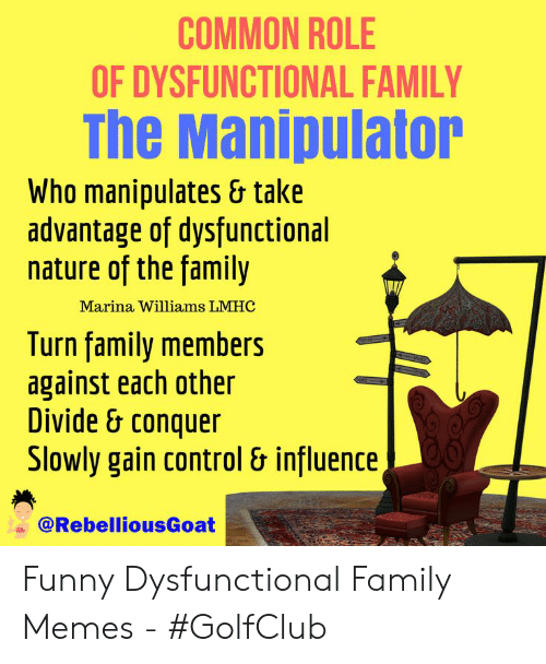 Common Role Of Dysfunctional Family The Manipulator Who