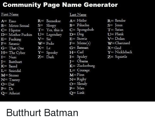 Funny Meme Page Names : Meme page name generator best of the funny
