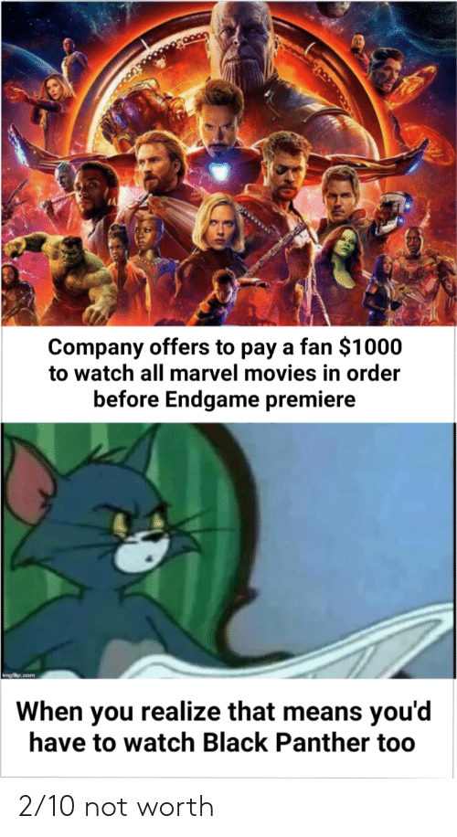 Company Offers to Pay a Fan $1000 to Watch All Marvel Movies