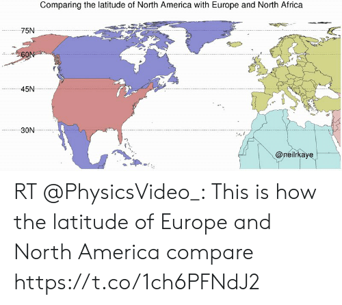 Comparing the Latitude of North America With Europe and ...