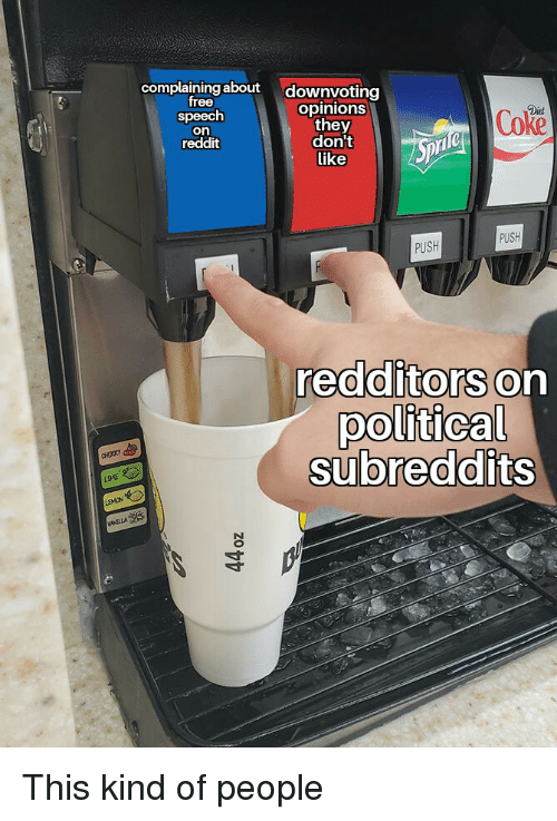 Complaining About Downvoting Free Speech on Reddit Opinions