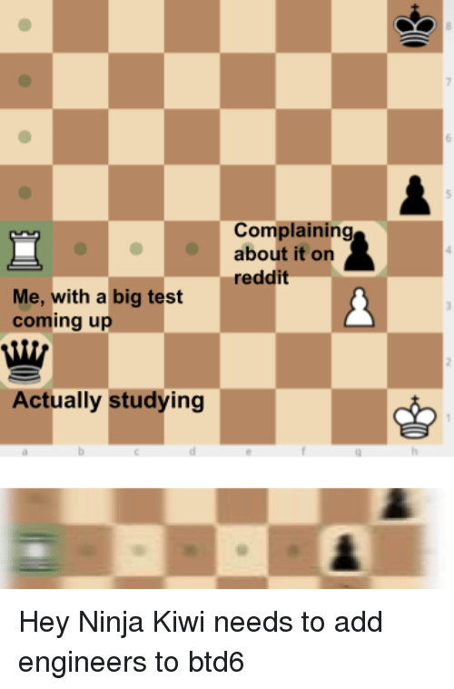 Complaining About It on Reddit Me With a Big Test Coming Up Actually