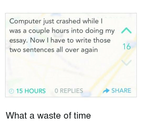 Write my internet is a waste of time essay