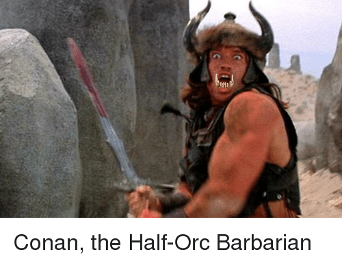 Conan the Half-Orc Barbarian | DnD Meme on ME ME