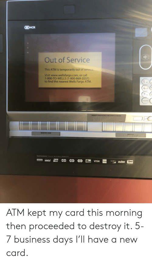 CONCR Out of Service This ATM Is Temporarily Out of Service Visit