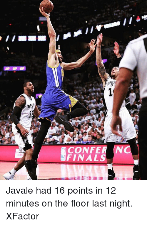 Basketball, Golden State Warriors, and Sports: CONFER N  FINAL Javale had 16 points in 12 minutes on the floor last night. XFactor
