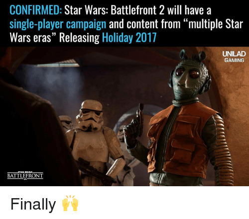 confirmed star wars battlefront 2 will have a single player campaign 13388424 confirmed star wars battlefront 2 will have a single player