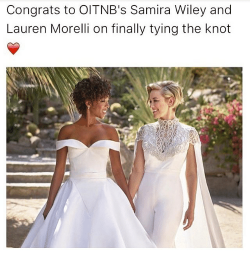 Memes, 🤖, and Wiley: Congrats to OITNB's Samira Wiley and  Lauren Morelli on finally tying the knot