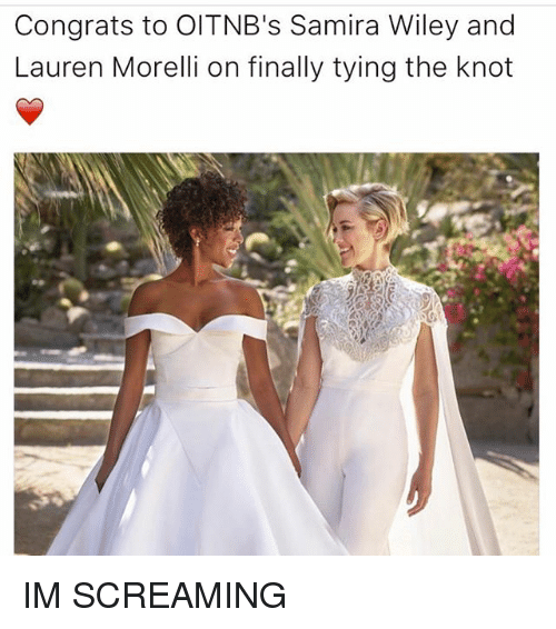 Memes, 🤖, and Wiley: Congrats to Old TNB's Samira Wiley and  Lauren Morelli on finally tying the knot IM SCREAMING
