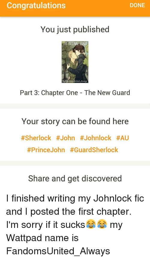 Congratulations DONE You Just Published THE PERSONAL GUARD