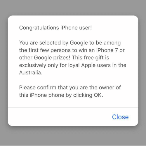 congratulations iphone user you are selected by google to be among