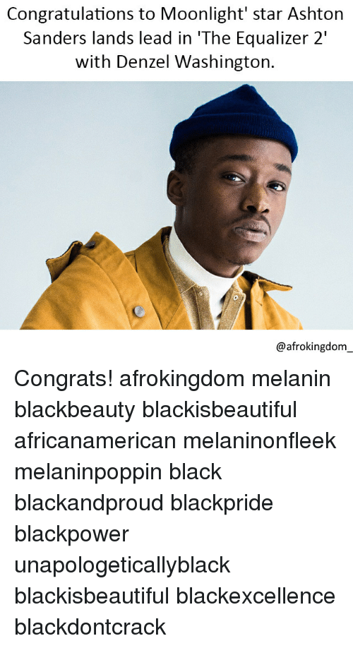 Congratulations to Moonlight' Star Ashton Sanders Lands Lead in 'The