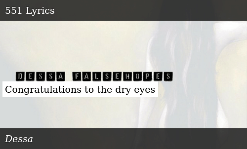 SIZZLE: Congratulations to the dry eyes