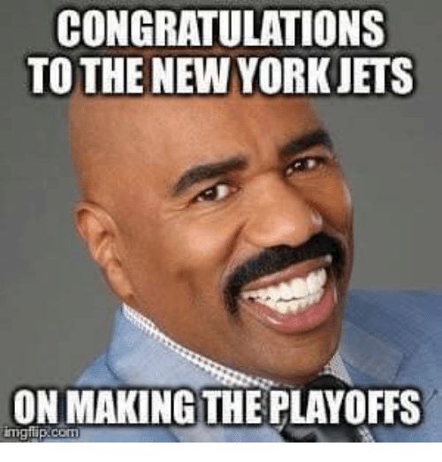 Memes, New York, and New York Jets: CONGRATULATIONS  TO THE NEW YORK JETS  ON MAKING THE PLAYOFFS