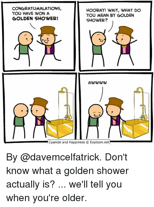 Facial golden shower