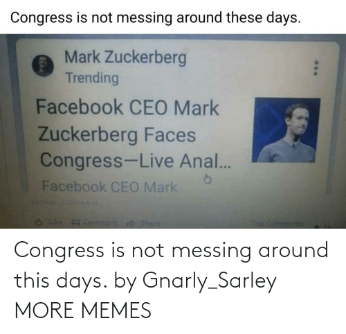 Dank, Memes, and Target: Congress is not messing around this days. by Gnarly_Sarley MORE MEMES
