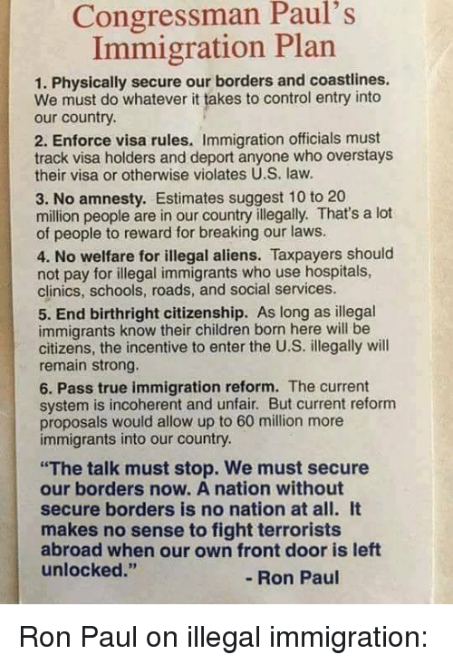 illegal immigrants should be allowed into
