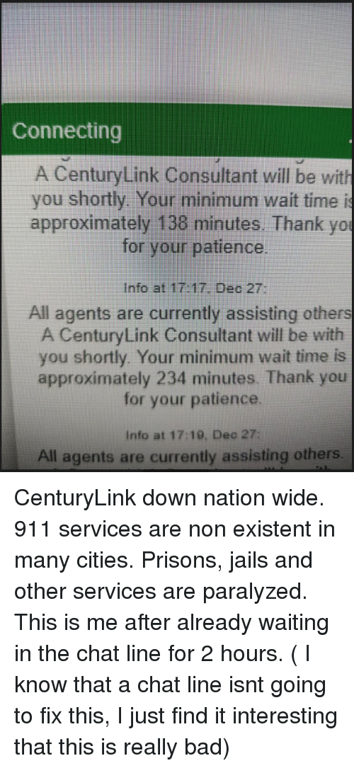 Connecting a CenturyLink Consultant Will Be With You Shortly