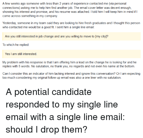 still interested in position email