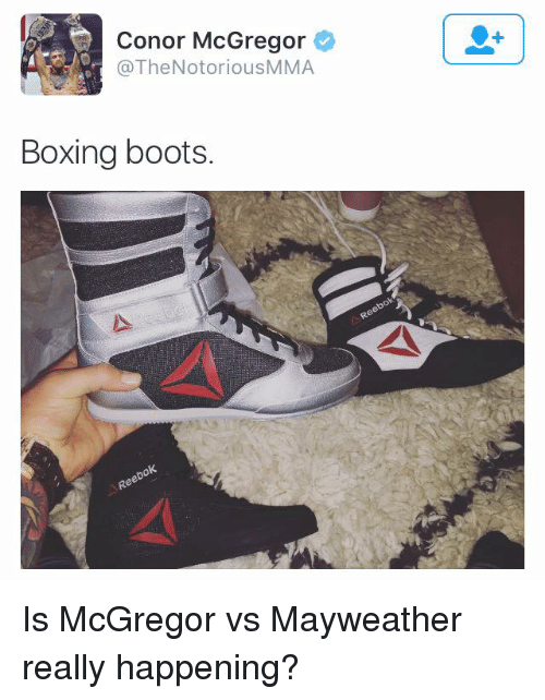 Conor McGregor Boxing Boots Is McGregor vs Mayweather Really ... 5c7d64238