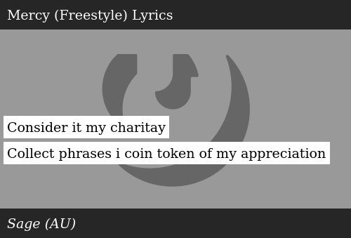 Consider It My Charitay Collect Phrases I Coin Token of My