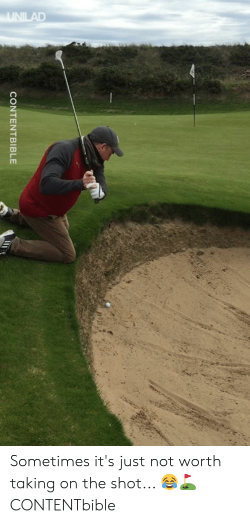 Dank, 🤖, and Shot: CONTENTBIBLE Sometimes it's just not worth taking on the shot... 😂️⛳️  CONTENTbible