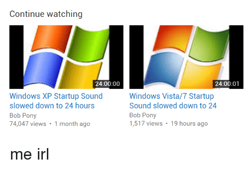 Continue Watching 240000 Windows XP Startup Sound Slowed
