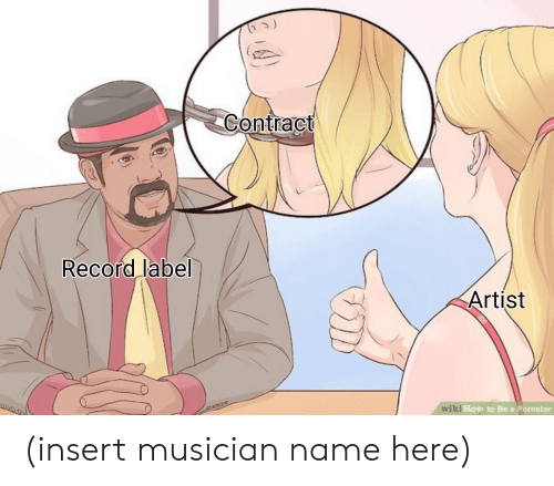 How To, Record, and Dank Memes: Contract  Record label  Artist  How to Be a Pornstar (insert musician name here)