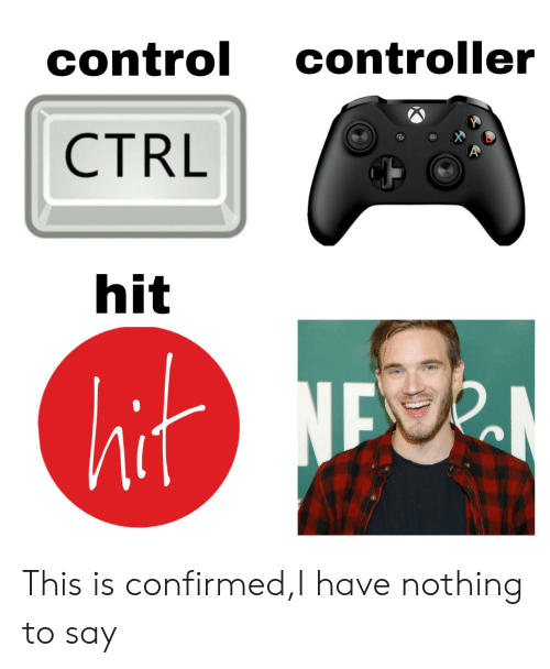Control, This, and This Is: control controller  CTRL  hit This is confirmed,I have nothing to say