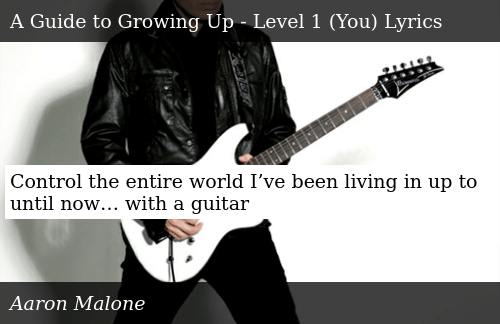 SIZZLE: Control the entire world I've been living in up to until now… with a guitar