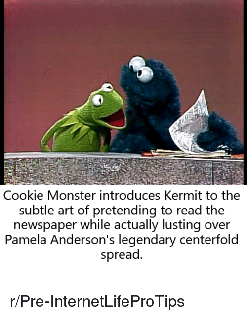 Cookie Monster Introduces Kermit To The Subtle Art Of Pretending To